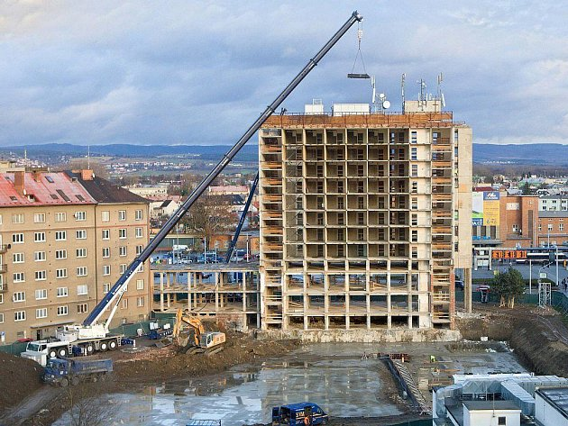 Rekonstrukce hotelu Sigma v Olomouci - odhalený skelet budovy