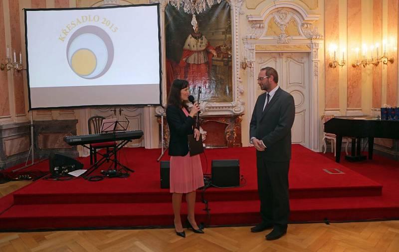 Předávání cen Křesadlo 2015 v Arcibiskupském paláci v Olomouci