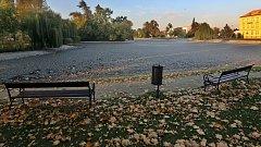 Vypuštěný Uničovský rybník v Litovli.