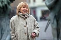 Marie Woodhamsová na olomouckém Horním náměstí