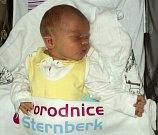 Ladislav Kolčava, Zábřeh, narozen 4. února ve Šternberku, míra 52 cm, váha 4110 g
