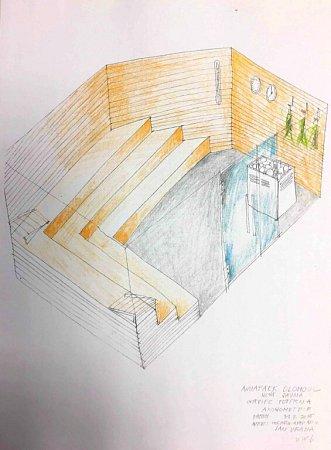 Navržená podoba nové sauny volomouckém aquaparku