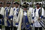 Rakouské vojsko se na olomouckém fortu šikuje k bitvě s Prušáky. Ilustrační foto