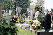 Dučičky na městském hřbitově v Olomouci-Neředíně