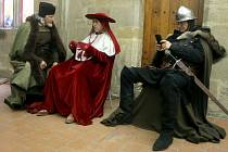 Natáčení filmu o Jeronýmu Pražském ve Zdíkově paláci u dómu sv. Václava v Olomouci