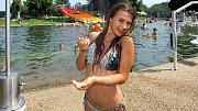 Miss OK 2018 Nelly Urbánková na koupacím biotopu v Litovli