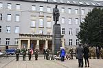 Pocta T. G. Masarykovi u jeho památníku na Žižkově náměstí v Olomouci
