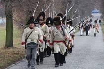 Příznivci vojenské historie se v sobotu představili v Náměšti na Hané na akci Před bitvou u Slavkova.