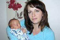 Filip Berka, Šumvald, narozen 21. září ve Šternberku, míra 45 cm, váha 2790 g