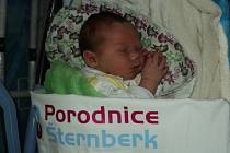 Richard Pospíšil, Medlov, narozen 13. ledna, míra 48 cm, váha 3660 g