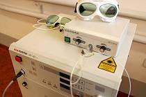 Moderní laserový přístroj pro léčbu rakoviny plic ve FNOL