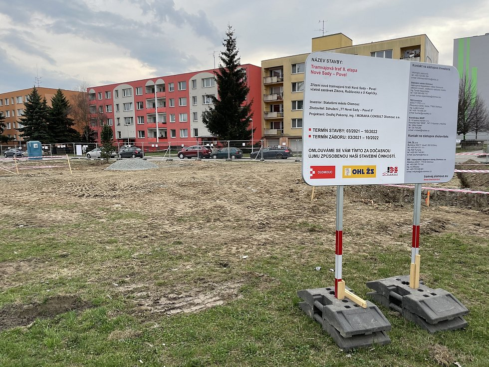 V Rooseveltově ulici v Olomouci začne 6. dubna částečná uzavírka komunikace. Obousměrný provoz bude zachován, 1. dubna 2021