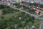 Rozšíření tramvajové trati na Nové Sady a do Slavonína. Na snímku je vizualizace - stav před - Schweitzerova - Jižní ulice