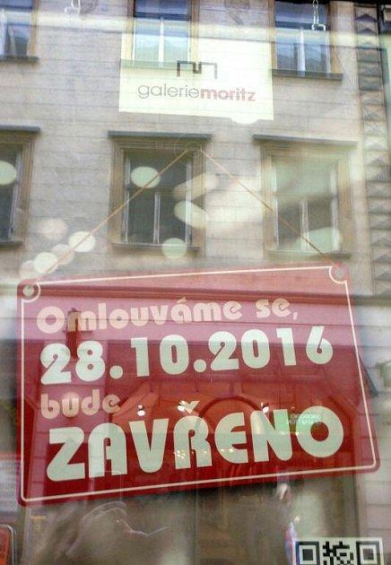 Galerie Moritz. Na státní svátek 28.října musí mít velké markety zavřeno