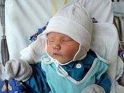 Tobiáš Flášar, Uničov, narozen 2. října ve Šternberku, míra 51 cm, váha 3140 g