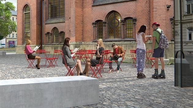 Vizualizace proměny prostoru u Červeného kostela v Olomouci
