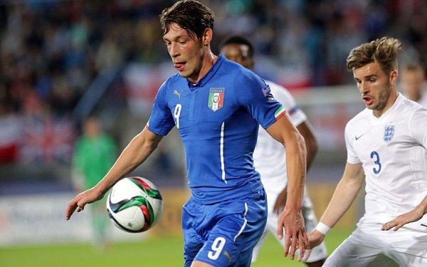 Anglie proti Itáli. Euro U21 na Andrově stadionu vOlomouci