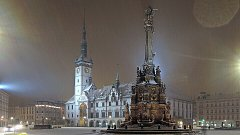 Horní náměstí v Olomouci se Sloupem Nejsvětější Trojice