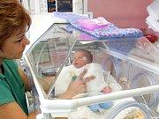 Inkubátor na novorozeneckém oddělení v olomoucké fakultní nemocnici. Ilustrační foto