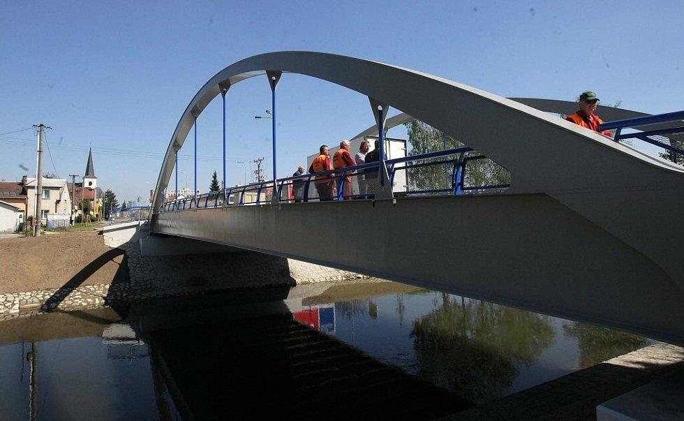 Slavnostní otevření mostu v Litovli.