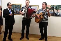 Výtvarníci z Makarské vystavují v Galerii města Olomouce