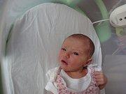 Barbora Benešová, Kobeřice, narozena 23. července v Olomouci, míra 49 cm, váha 2880 g.
