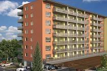 Vizualizace nového bytového domu v Janského ulici