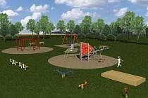 Vizualizace nového dětského hřiště v Čechových sadech
