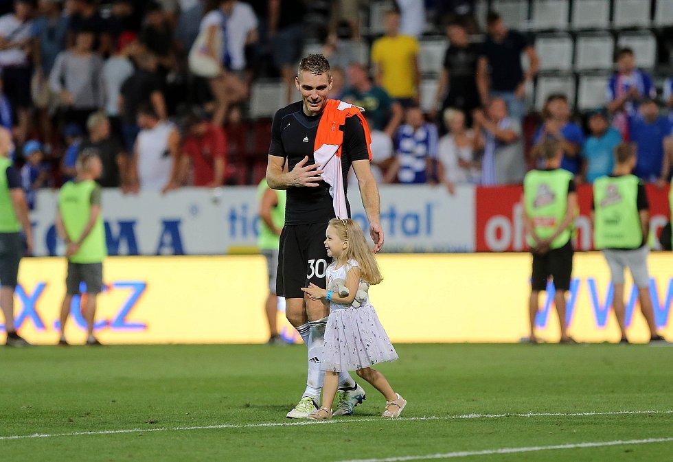 Brankář Sigmy Miloše Buchta. Sigma Olomouc vs. Sevilla FC
