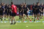 Trénink české fotbalové reprezentace na Andrově stadionu před zápasem s Černou Horou