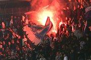 Fanoušci Kodaně na Andrově stadionu v Olomouci