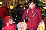 Lampionový průvod k výročí 28. října v Olomouci