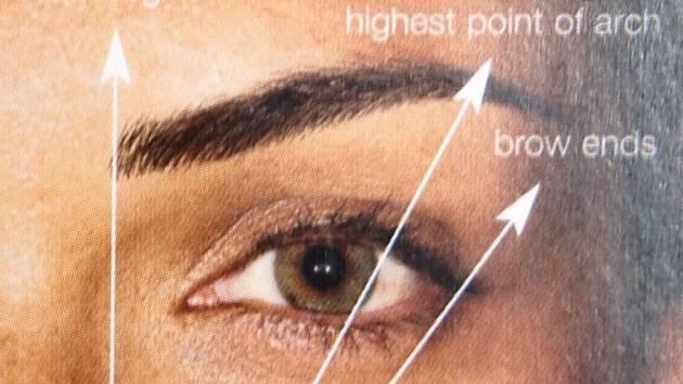 Prvním krokem k dokonalému obočí je jeho tvar. K tomu pomohou tři základní linie.