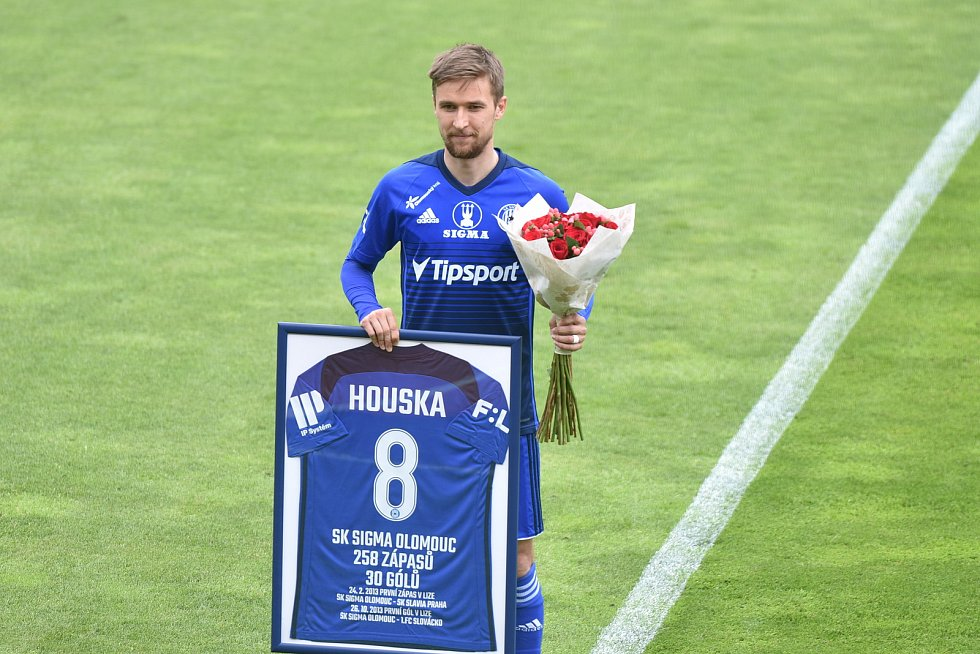 Fotbalisté Sigmy Olomouc proti Mladé Boleslavi. David Houska se loučil s Androvým stadionem