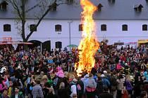 Pálení čarodějnic na Korunní pevnůstce v Olomouci