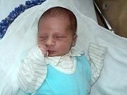 Jakub Stratil, Bohuňovice, narozen 11. října ve Šternberku, míra 52 cm, váha 3500 g