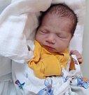 Samuel Ladislav Rakaš, Nová Ves, narozen 17. května v Olomouci, míra 49 cm, váha 3520 g.
