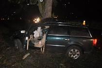 Tragická dopravní nehoda se stala v neděli v noci na silnici vedoucí z Olomouce do Horky nad Moravou, nedaleko přírodního koupaliště Poděbrady. Osobní auto narazilo do stromu u cesty, spolujezdec na místě zemřel.