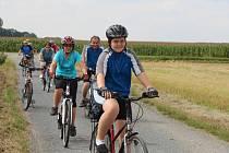 Skupinka jedenácti milovníků cyklistiky vyrazila v neděli odpoledne na jeden z cyklovýletů Litovelským Pomoravím.