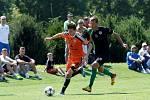 Fotbalisté Sigmy (v oranžovém) prohráli s MFK Skalica 0:2. Jan Štěrba