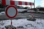 Smetanova ulice. Budování kanalizace ve Šternberku