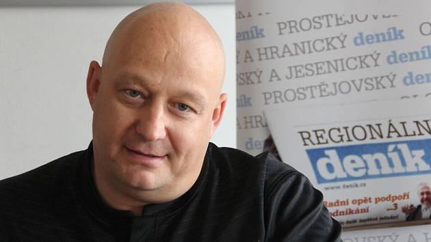 Zbyněk Václavík při on-line rozhovoru se čtenáři Deníku