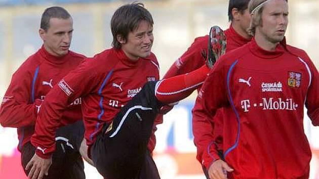 Poslední trénink reprezentace na Andrově stadionu před kvalifikací s Litvou
