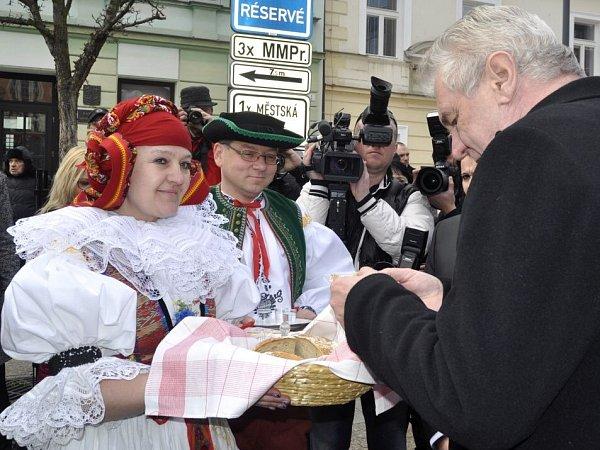 Prezident Zeman vPřerově