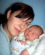 Matěj Orban, Slatinky, narozen 2. srpna v Olomouci, míra 52 cm, váha 3790 g.