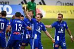Fotbalisté Olomouce prohráli doma s Příbramí 1:2. Lukáš Juliš radost oslava