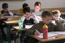 Školáci na srovnávacích testech v Olomouci