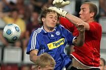 Gólman Framu Reykjavík Hannes Halldórsson v zápase Evropské ligy se Sigmou Olomouc