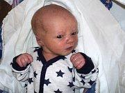 Adam Lakomý, Bělkovice-Lašťany, narozen 27. února ve Šternberku, míra 51 cm, váha 3390 g