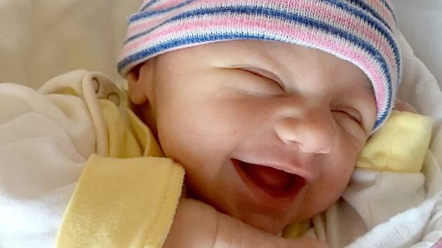 Anežka Jílková, Uničov, narozena 1. února ve Šternberku, míra 48 cm, váha 3480 g